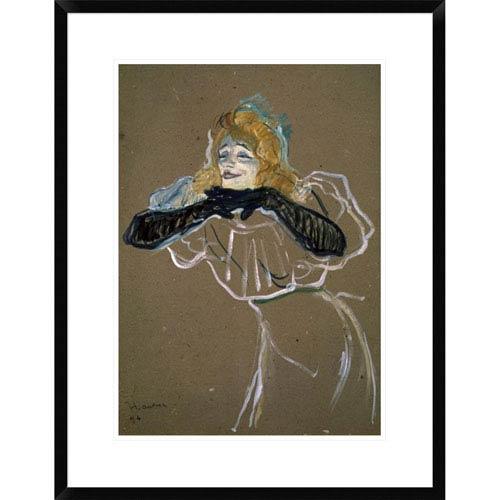 Global Gallery La Chanteuse: Yvette Gilbert By Henri Toulouse-Lautrec, 28 X 21-Inch Wall Art