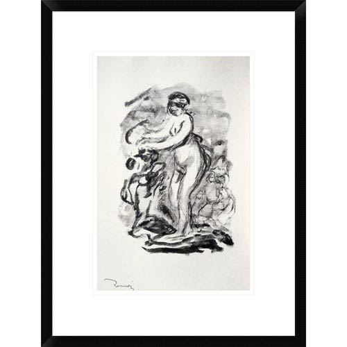 Global Gallery The Bather By Pierre Auguste Renoir, 22 X 16-Inch Wall Art