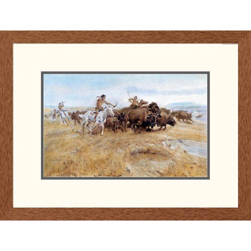 Global Gallery Buffalo Hunt By Charles M. Russell, 18 X 24-Inch Wall Art