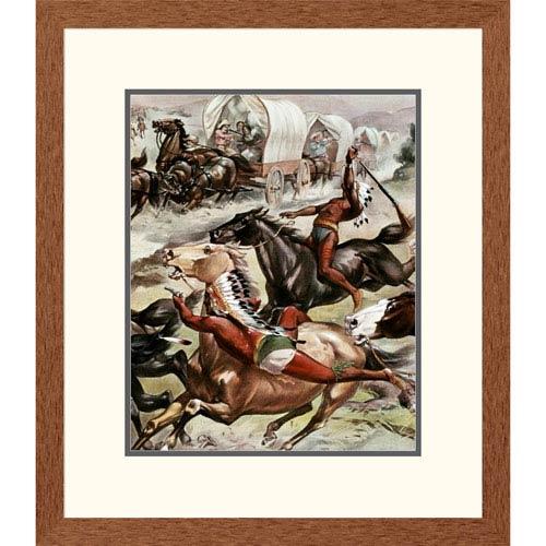 Global Gallery Buffalo Bills Wild West Detail By Unknown, 24 X 20-Inch Wall Art