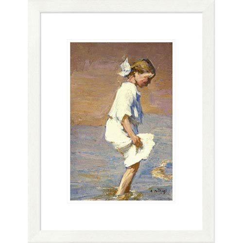 Global Gallery Wading At The Shore By Edward Henry Potthast, 24 X 18-Inch Wall Art