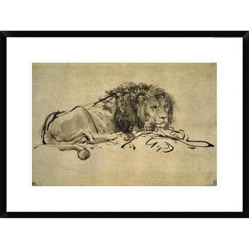 Global Gallery Lion By Rembrandt Van Rijn, 20 X 28-Inch Wall Art