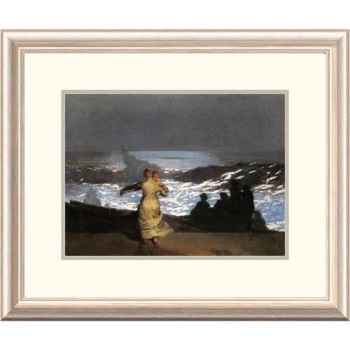 Global Gallery A Summer Night By Winslow Homer, 19 X 24-Inch Wall Art