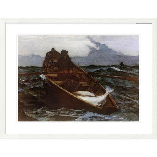 Global Gallery Fog Warning By Winslow Homer, 29 X 38-Inch Wall Art