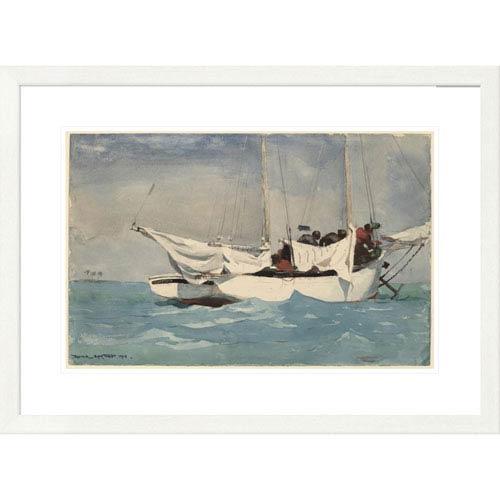 Global Gallery Key West Hauling Anchor By Winslow Homer, 24 X 32-Inch Wall Art