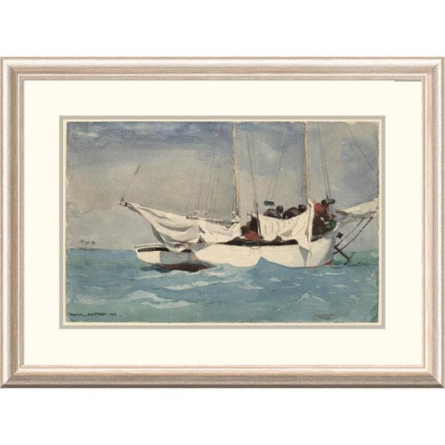 Global Gallery Key West Hauling Anchor By Winslow Homer, 24 X 32-Inch Wall Art