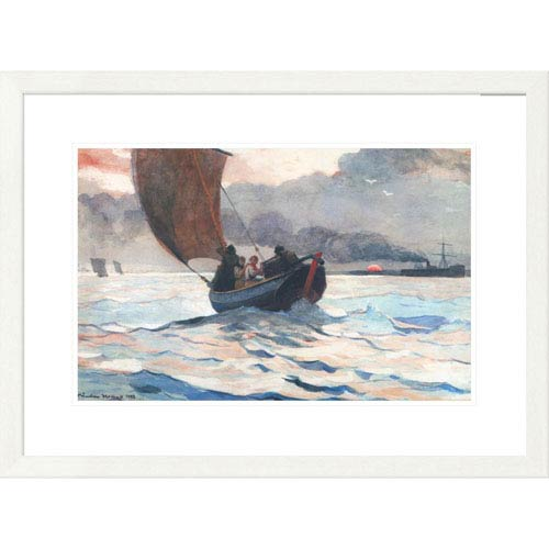 Global Gallery Returning Fishing Boats By Winslow Homer, 22 X 30-Inch Wall Art