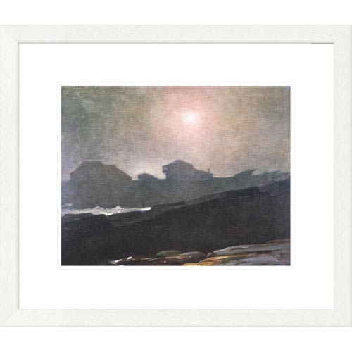 Global Gallery The Artists Studio In An Afternoon Fog By Winslow Homer, 20 X 24-Inch Wall Art