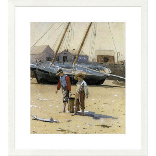 Global Gallery The Basket Of Clams 1873 By Winslow Homer, 30 X 26-Inch Wall Art