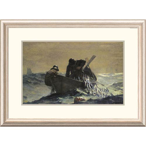 Global Gallery The Herring Net By Winslow Homer, 21 X 30-Inch Wall Art