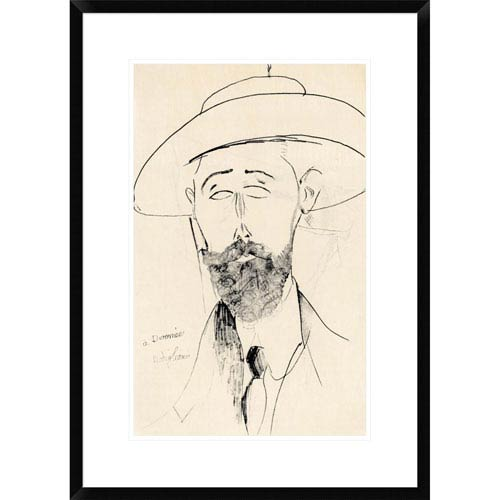 Global Gallery Dermee By Amedeo Modigliani, 28 X 19-Inch Wall Art