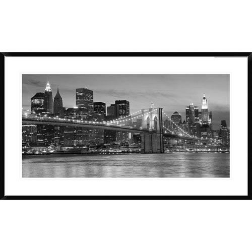 Global Gallery Brooklyn Bridge At Night By Unknown, 24 X 42-Inch Wall Art