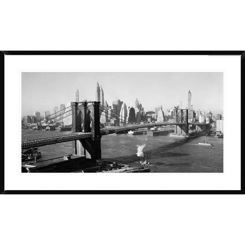 Global Gallery Brooklyn Bridge With Manhattan Skyline, 1930S By Unknown, 24 X 42-Inch Wall Art