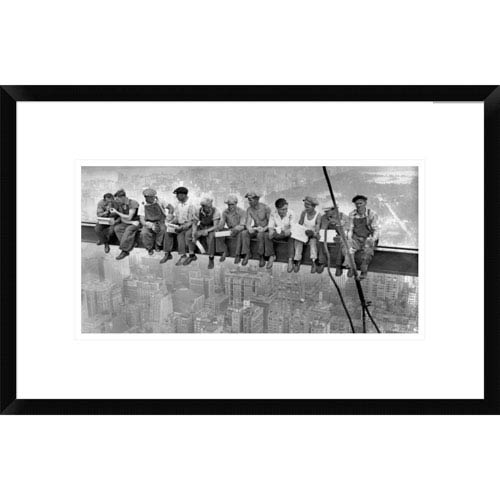 Global Gallery New York Construction Workers Lunching On A Crossbeam, 1932 By Charles C. Ebbets, 14 X 22-Inch Wall Art