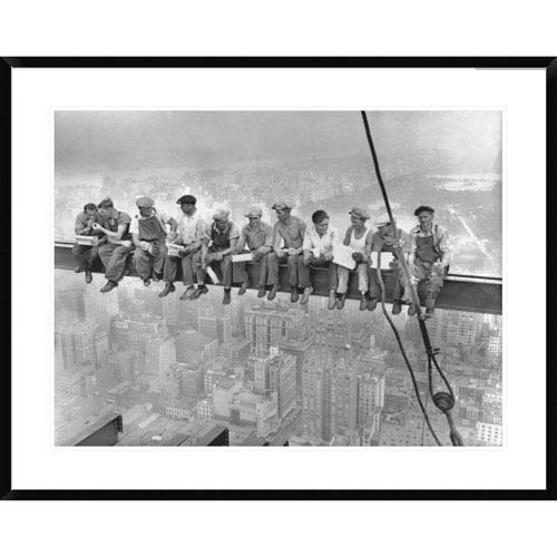 Global Gallery New York Construction Workers Lunching On A Crossbeam, 1932 By Charles C. Ebbets, 30 X 38-Inch Wall Art