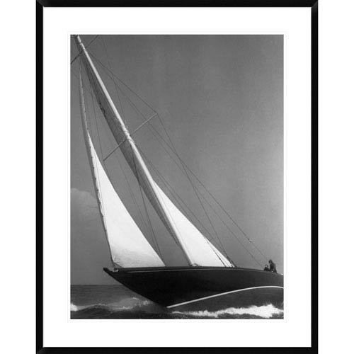 Global Gallery Ibis Yacht Cruising, 1936 By Edwin Levick, 38 X 30-Inch Wall Art