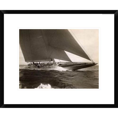 Global Gallery J Class Sailboat, 1934 By Edwin Levick, 18 X 22-Inch Wall Art
