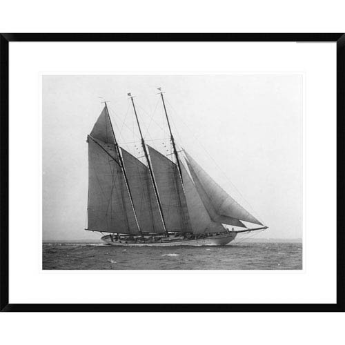 Global Gallery The Schooner Karina At Sail, 1919 By Edwin Levick, 24 X 30-Inch Wall Art