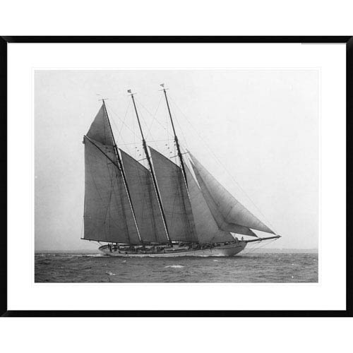 Global Gallery The Schooner Karina At Sail, 1919 By Edwin Levick, 30 X 38-Inch Wall Art