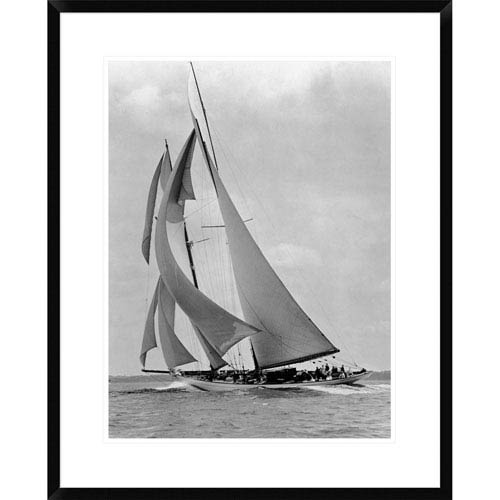 Global Gallery The Schooner Half Moon At Sail, 1910S By Edwin Levick, 30 X 24-Inch Wall Art