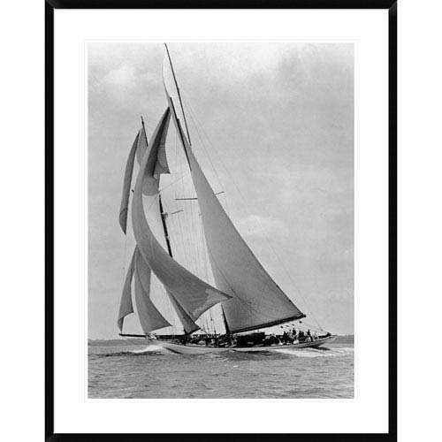 Global Gallery The Schooner Half Moon At Sail, 1910S By Edwin Levick, 38 X 30-Inch Wall Art
