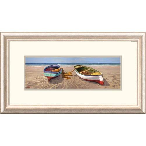 Global Gallery Barche Sulla Battigia I By Adriano Galasso, 14 X 26-Inch Wall Art