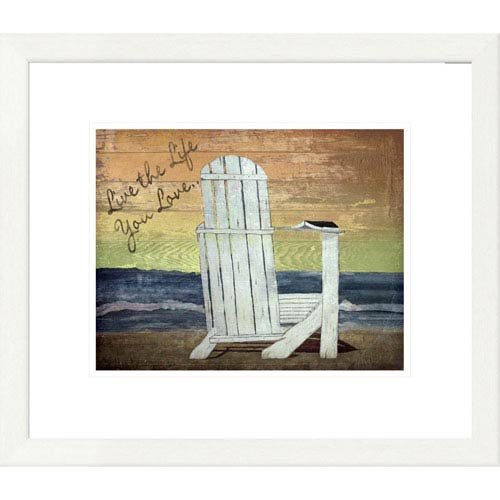 Global Gallery Reading On The Beach By Karen J. Williams, 19 X 22-Inch Wall Art
