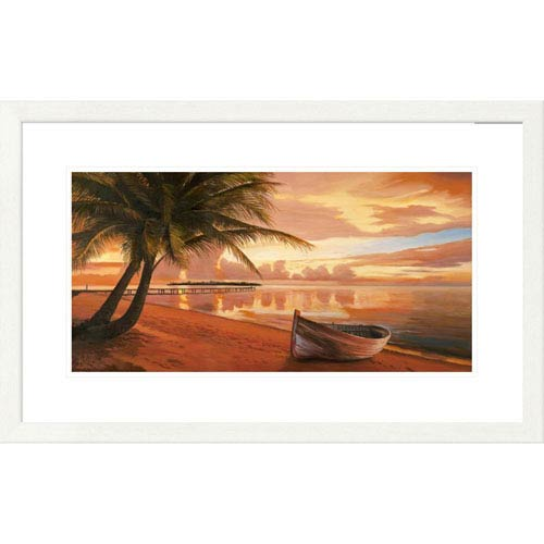 Global Gallery Tramonto Ai Tropici By Adriano Galasso, 20 X 32-Inch Wall Art