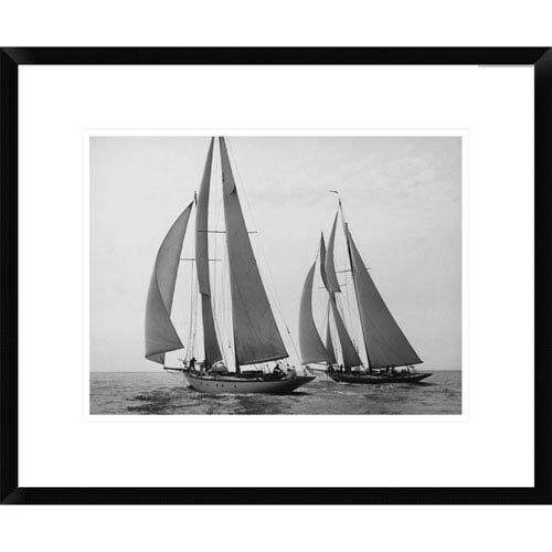 Global Gallery Sailboats Race During Yacht Club Cruise By Edwin Levick, 18 X 22-Inch Wall Art