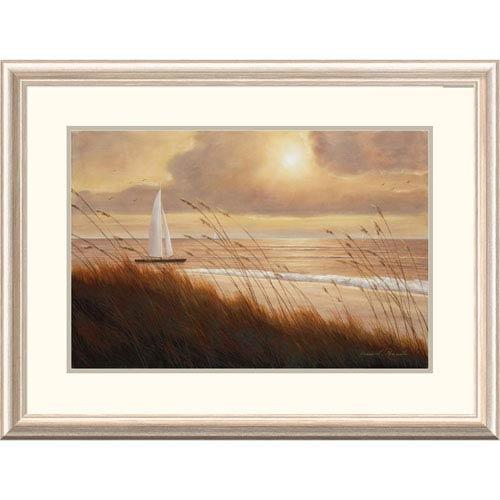 Global Gallery Beach Grass Sunset By Diane Romanello, 24 X 32-Inch Wall Art