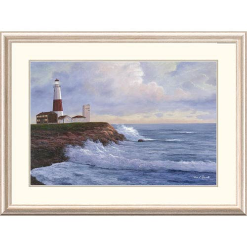 Global Gallery Montauk Lighthouse By Diane Romanello, 28 X 38-Inch Wall Art