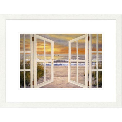 Global Gallery Sunset Beach By Diane Romanello, 20 X 26-Inch Wall Art