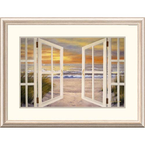 Global Gallery Sunset Beach By Diane Romanello, 24 X 32-Inch Wall Art