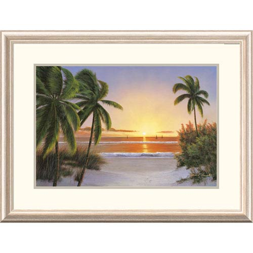 Global Gallery Sunset Sail By Diane Romanello, 24 X 32-Inch Wall Art