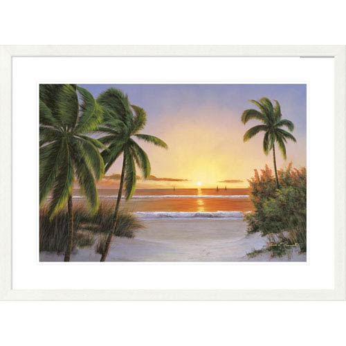 Global Gallery Sunset Sail By Diane Romanello, 28 X 38-Inch Wall Art