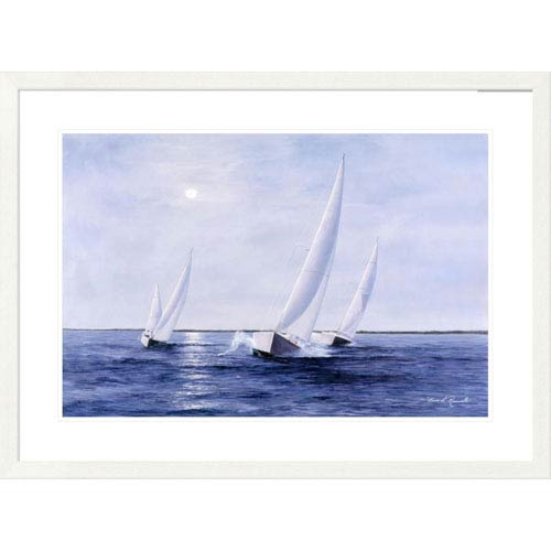 Global Gallery Blue Sails By Diane Romanello, 28 X 38-Inch Wall Art