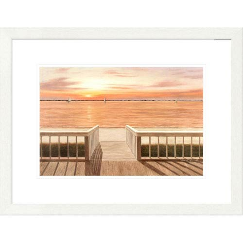 Global Gallery Sunset Deck By Diane Romanello, 20 X 26-Inch Wall Art