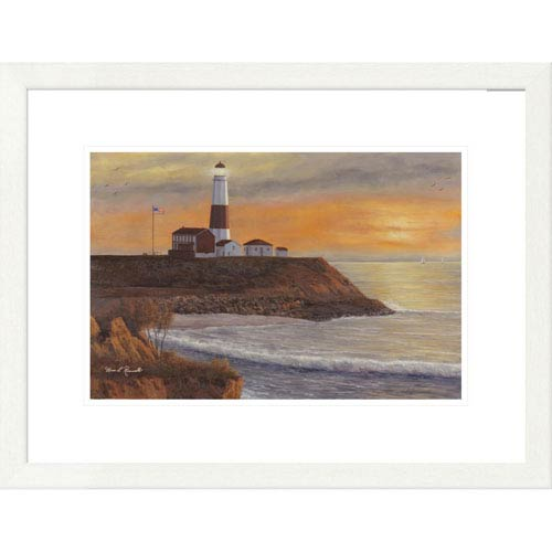 Global Gallery Montauk Lighthouse Sunset By Diane Romanello, 20 X 26-Inch Wall Art