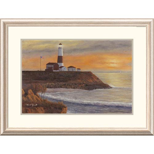 Global Gallery Montauk Lighthouse Sunset By Diane Romanello, 24 X 32-Inch Wall Art