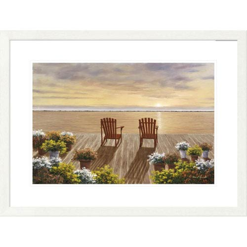 Global Gallery Evening Deck View By Diane Romanello, 24 X 32-Inch Wall Art