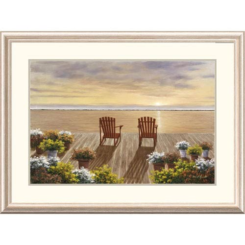 Global Gallery Evening Deck View By Diane Romanello, 28 X 38-Inch Wall Art