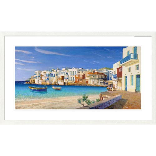 Global Gallery Mykonos By Adriano Galasso, 26 X 44-Inch Wall Art