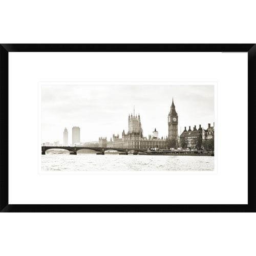 Global Gallery View Of The Houses Of Parliament And Westminster Bridge, London By Frank Helena, 14 X 22-Inch Wall Art