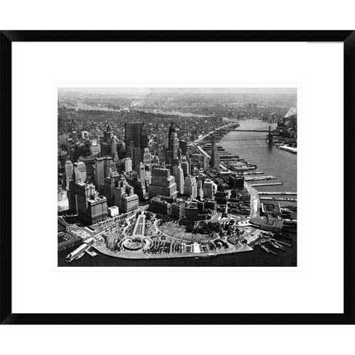 Global Gallery Aerial View Of Manhattan By Anonymous, 18 X 22-Inch Wall Art