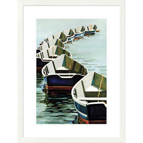 Global Gallery Boats By Kristen Funkhouser, 32 X 24-Inch Wall Art