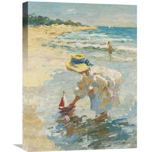 Global Gallery Seaside Summer Ii By Vitali, 18 X 24-Inch Wall Art