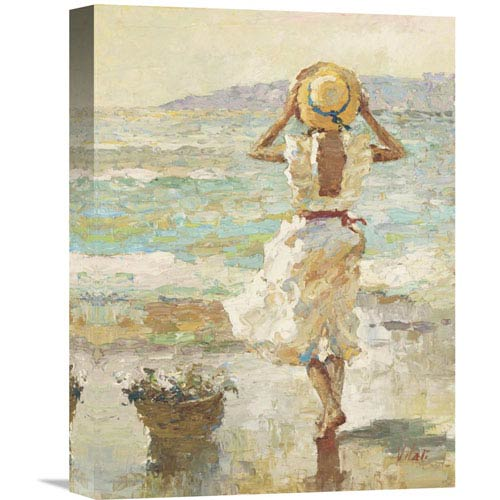 Global Gallery Seaside Summer I By Vitali, 12 X 16-Inch Wall Art
