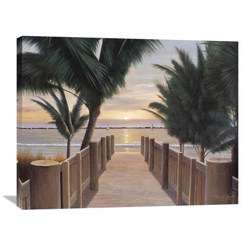 Global Gallery Palm Promenade By Diane Romanello, 35 X 28-Inch Wall Art