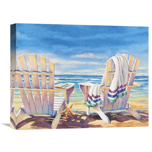 Global Gallery Seaside I By Kathleen Denis, 20 X 16-Inch Wall Art