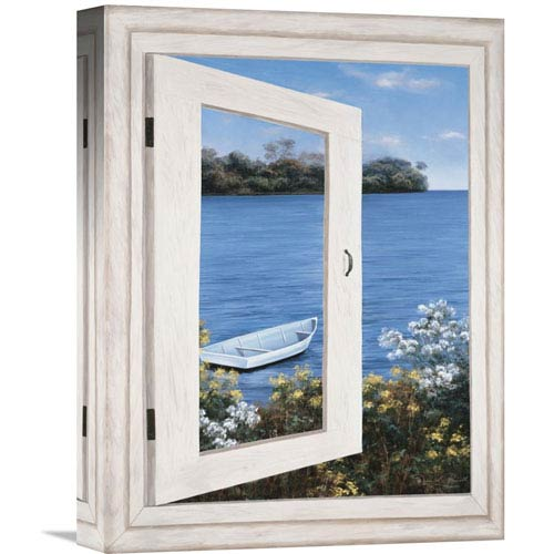 Global Gallery Bay Window Vista I By Diane Romanello, 12 X 16-Inch Wall Art